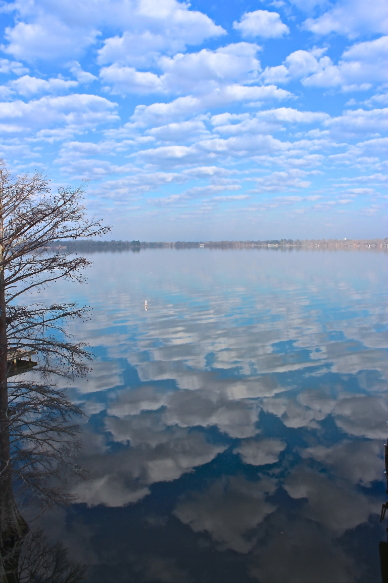 Clouds On The Lake