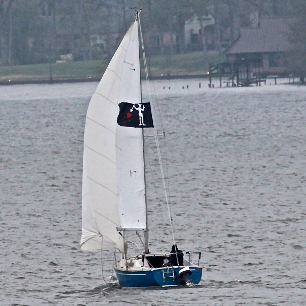 Sailing on Cross Lake