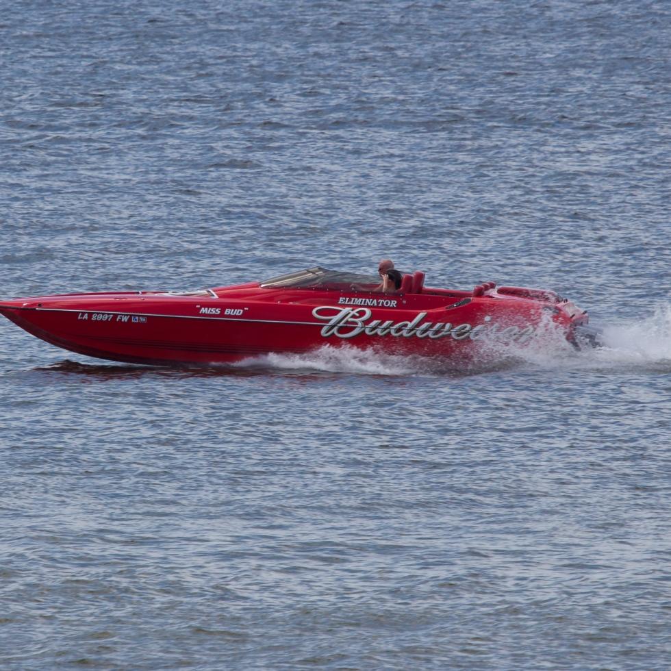Budweiser Speed Boat - Shreveport Photographer
