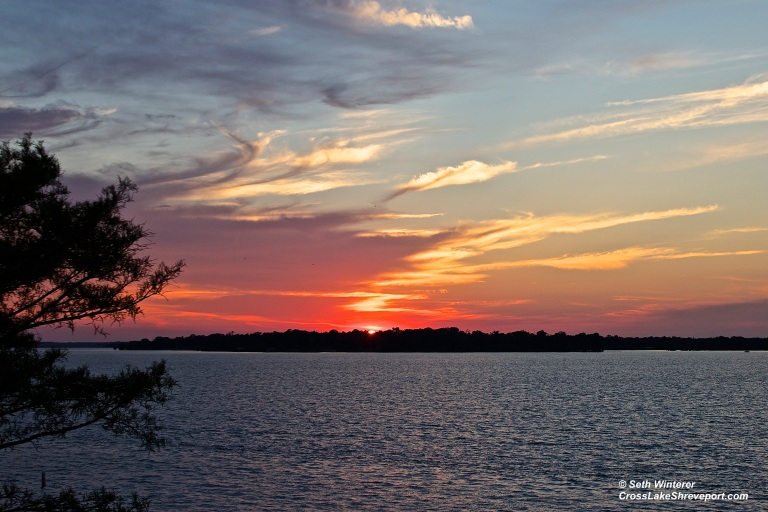 Shreveport Sunset on Cross Lake - Louisiana Photography